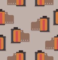 naadloze patroon van camera filmrollen