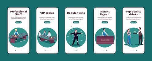 mobiele app voor onboarding van casino's vector