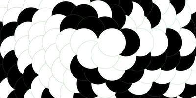 donkergroene sjabloon met cirkels. vector