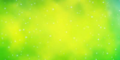 lichtgroene achtergrond met kleurrijke sterren. vector
