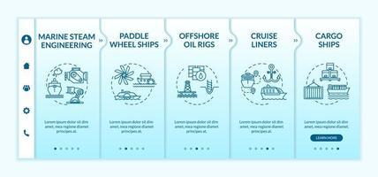 maritieme engineering onboarding-sjabloon. vector
