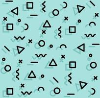 naadloze patroon van leuke memphis-stijlvormen vector