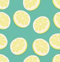 naadloze patroon van plakjes citroen vector