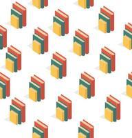 naadloze patroon van gestapelde boeken vector