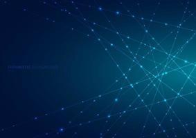 abstracte blauwe laserlijn met fonkelende verlichting vector