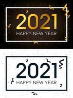 gelukkig nieuwjaar, 2021 feestkaartenset vector