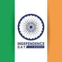 gelukkige indiase onafhankelijkheidsdag viering kaart vector