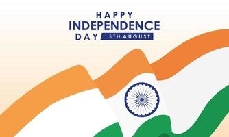 gelukkige indiase onafhankelijkheidsdag viering banner vector