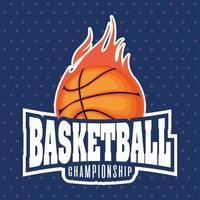 basketbal kampioenschap sport embleem met bal