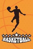 basketbal en sport kampioenschap poster