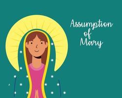 wonderbaarlijke aanname van de viering van de maagd Maria vector