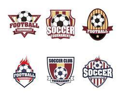 voetbal voetbal sport embleem pictogramserie