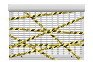 gestreepte veiligheidstape die doorgang verhindert
