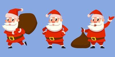 kerstman in verschillende poses