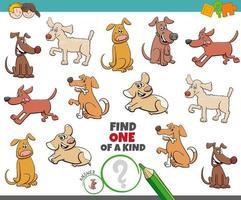 een unieke taak voor kinderen met honden vector
