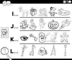 eerste letter van een woordactiviteit voor kinderen vector
