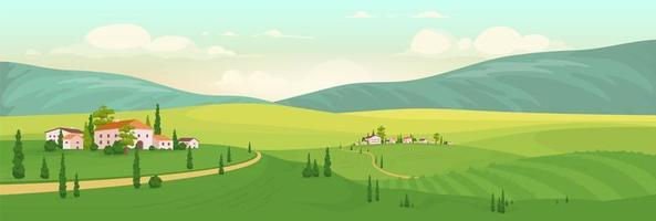 zomer in Italiaans dorp vector