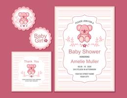 Babyshower vectorillustratie vector