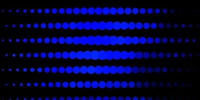 donkerblauw patroon met bollen.