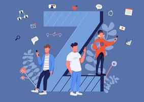 gen z communicatie vector