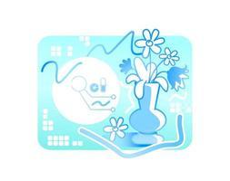 professionele schildersoftware vector