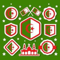 Gratis Algerije Patch Stickers Vector