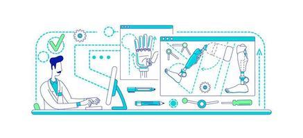 laboratorium voor prothese-ontwikkeling vector