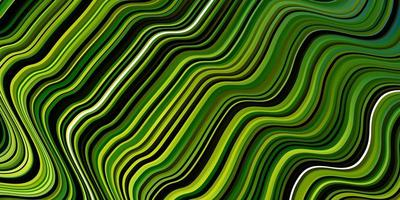 groene achtergrond met gebogen lijnen. vector