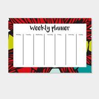 weekplanner in Indiase stijl.