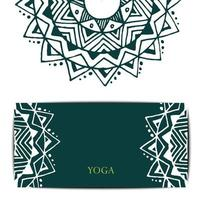 yoga kaartsjabloon
