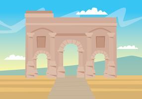 Ruïnes van Timgad vector