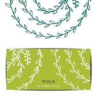 yoga studio cadeau kaartsjabloon.