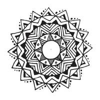 zentangle mandala voor kleurboek vector