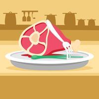 Eenvoudige kalfsvlees vectorillustratie vector