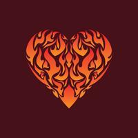 Flaming Inside Heart Illustratie Vector