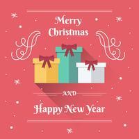 Lange schaduw Flat Kerst achtergrond vector