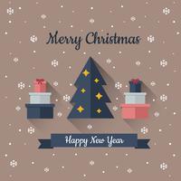 Lange schaduw Kerst achtergrond vector