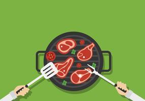 Gegrilde kalfsvlees vector