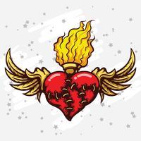 vlammend hart vector