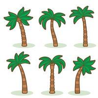 Palmboom op witte vector