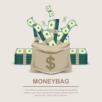 Moneybag vectorillustratie vector