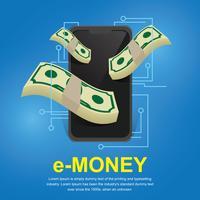 Voorbeeld geld illustratie Vector