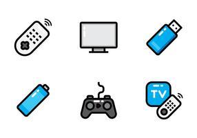 afstandsbediening tv pictogram vector