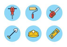 Bouw hulpmiddelen pictogram