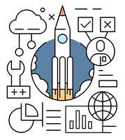 Gratis startup vectorillustratie vector