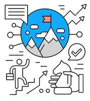 Gratis pictogrammen voor zakelijk succes vector