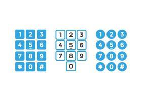 numeriek toetsenbord knop grafische sjabloon