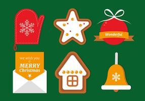 Gratis Flat Christmas Vector-elementen