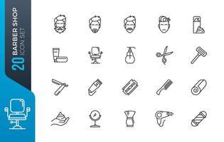 kapper winkel pictogramserie vector