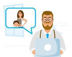 man met laptop voor een videogesprek thuis